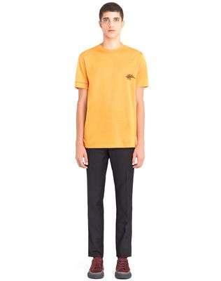 "LANVIN ORANGE ""DINO"" EMBROIDERED T-SHIRT Polos & T-Shirts U r"
