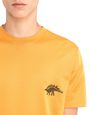 "LANVIN Polos & T-Shirts Man ORANGE ""DINO"" EMBROIDERED T-SHIRT f"