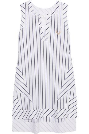 LUCAS HUGH Striped stretch-jersey top