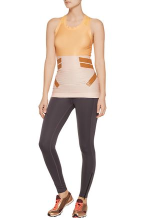 ADIDAS by STELLA McCARTNEY Techfit mesh-trimmed stretch-jersey tank
