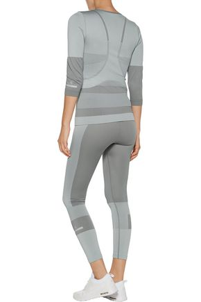 ADIDAS by STELLA McCARTNEY Color-block stretch-knit top