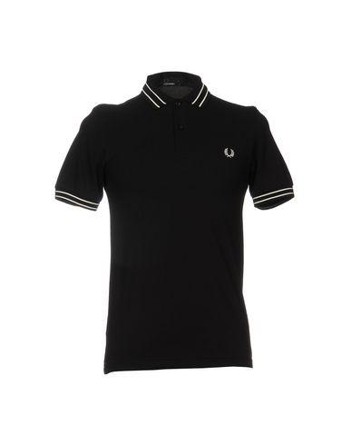 FRED PERRY メンズ ポロシャツ ブラック S コットン 100%