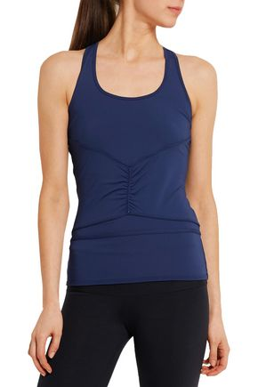 ADIDAS by STELLA McCARTNEY Ruched Climalite® stretch-jersey tank