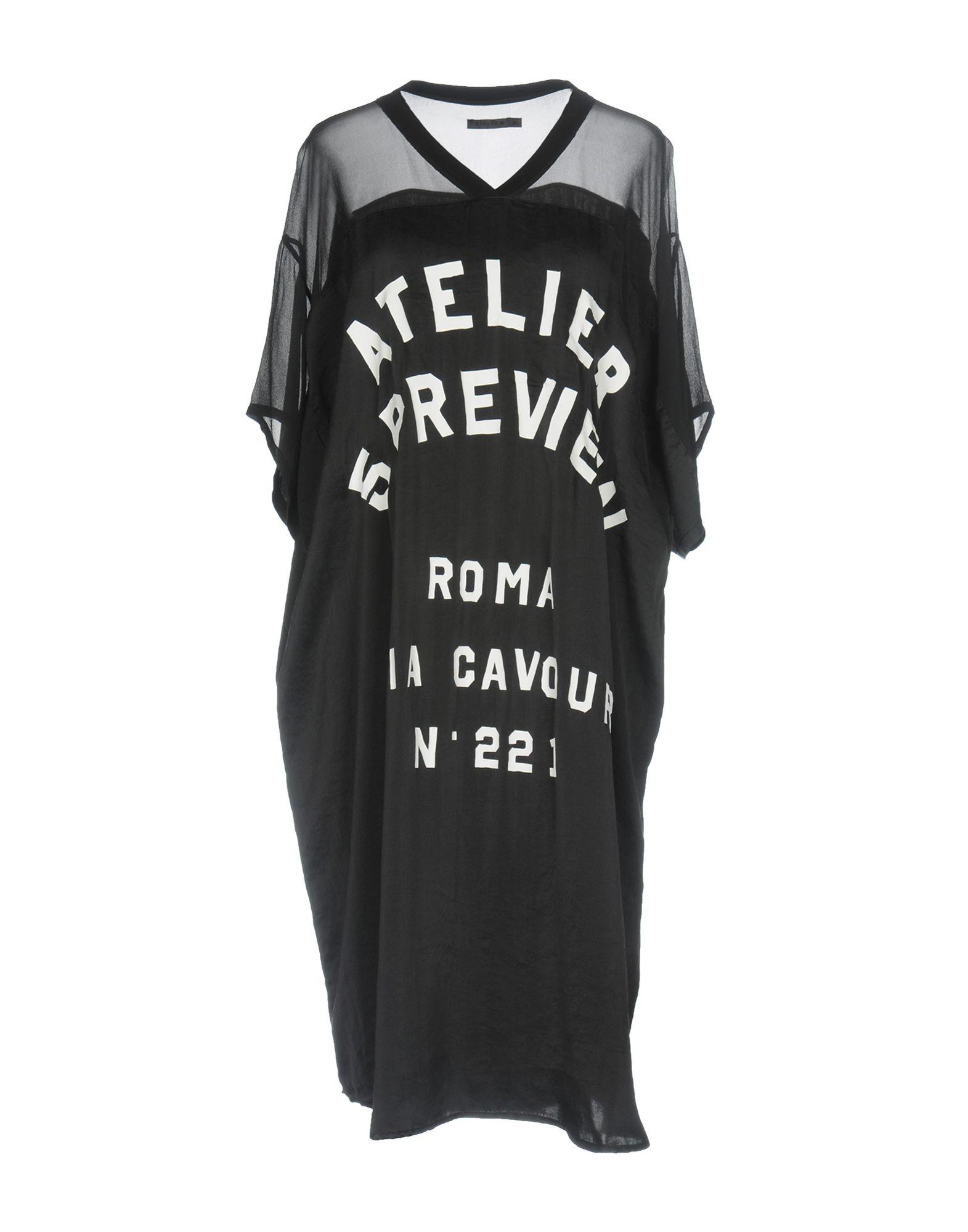 5PREVIEW Damen Knielanges Kleid Farbe Schwarz Größe 3