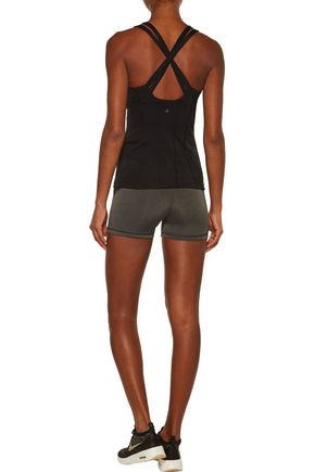 PURITY ACTIVE Two-tone mesh-trimmed stretch tank