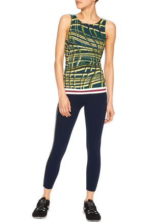 NO KA 'OI Maia printed stretch-jersey top