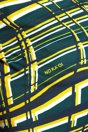 NO KA 'OI Niu printed stretch-jersey top