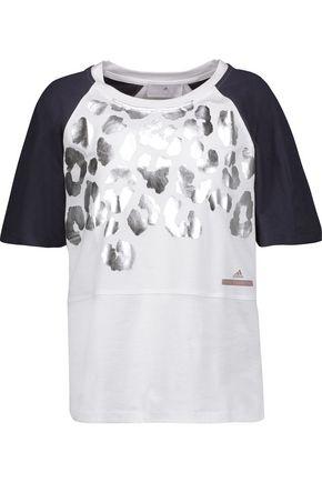 ADIDAS by STELLA McCARTNEY Metallic printed cotton-jersey T-shirt