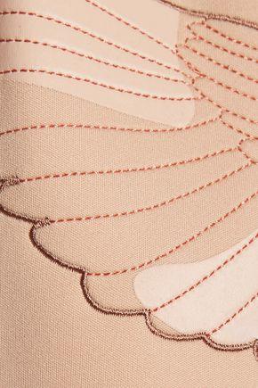 ADIDAS by STELLA McCARTNEY We embroidered appliquéd neoprene and twill sweatshirt