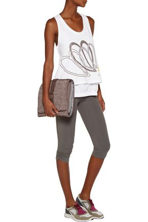 ADIDAS by STELLA McCARTNEY Layered appliquéd cotton and shell tank