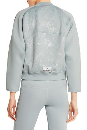 ADIDAS by STELLA McCARTNEY Embossed stretch-scuba jersey sweatshirt