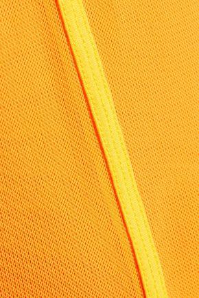 ADIDAS by STELLA McCARTNEY Tennis Performance layered ribbed-knit and mesh tank