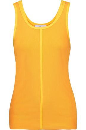 ADIDAS by STELLA McCARTNEY Tennis Performance layered ribbed-knit and mesh tank