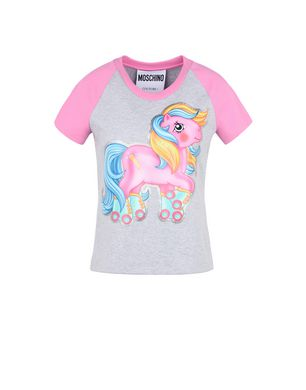 T-Shirt My Little Pony Two-Color T-Shirt With Logo And Half Sleeves, Light Grey