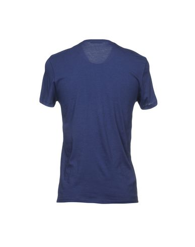 Фото 2 - Женскую футболку PAOLO PECORA синего цвета