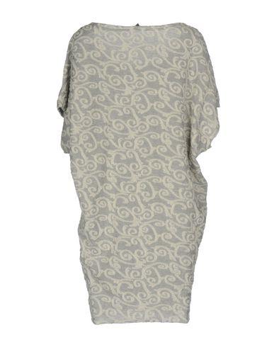 Фото 2 - Женское короткое платье JIJIL серого цвета