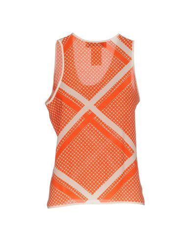 Фото 2 - Топ без рукавов от MSGM оранжевого цвета