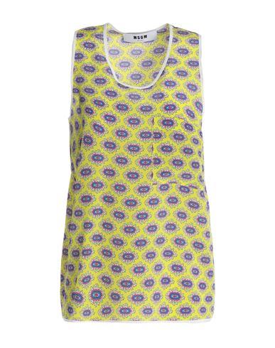 Купить Топ без рукавов от MSGM желтого цвета