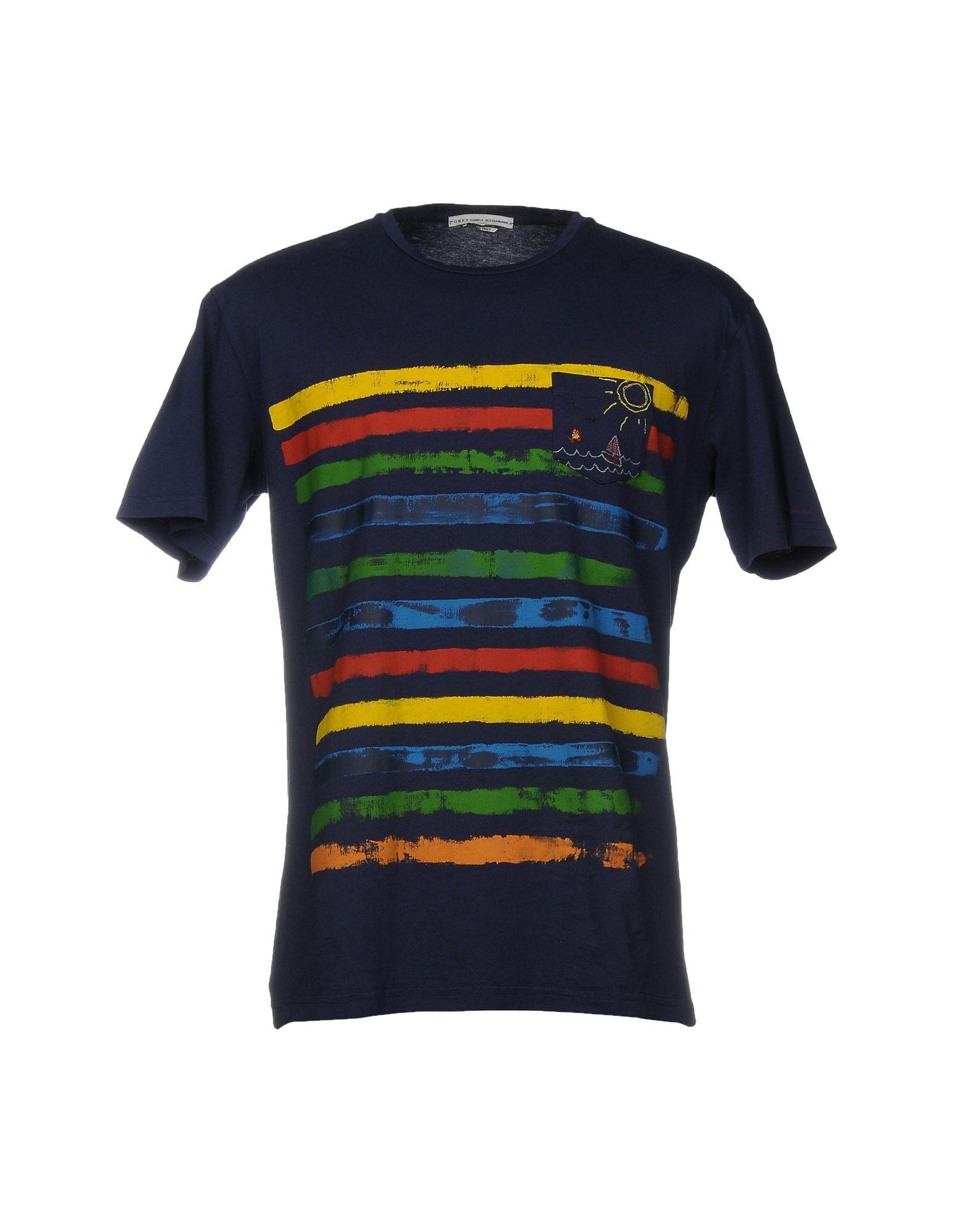 GREY DANIELE ALESSANDRINI Herren T-shirts Farbe Dunkelblau Größe 8 jetztbilligerkaufen