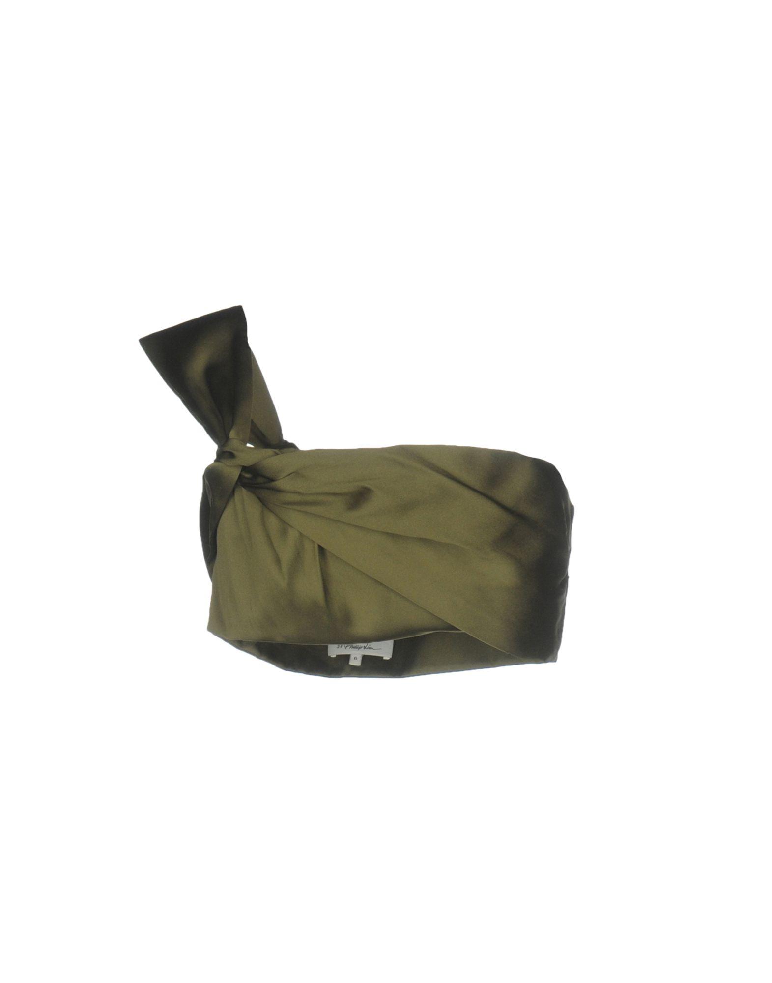 3.1 PHILLIP LIM Damen Top Farbe Militärgrün Größe 4 jetztbilligerkaufen