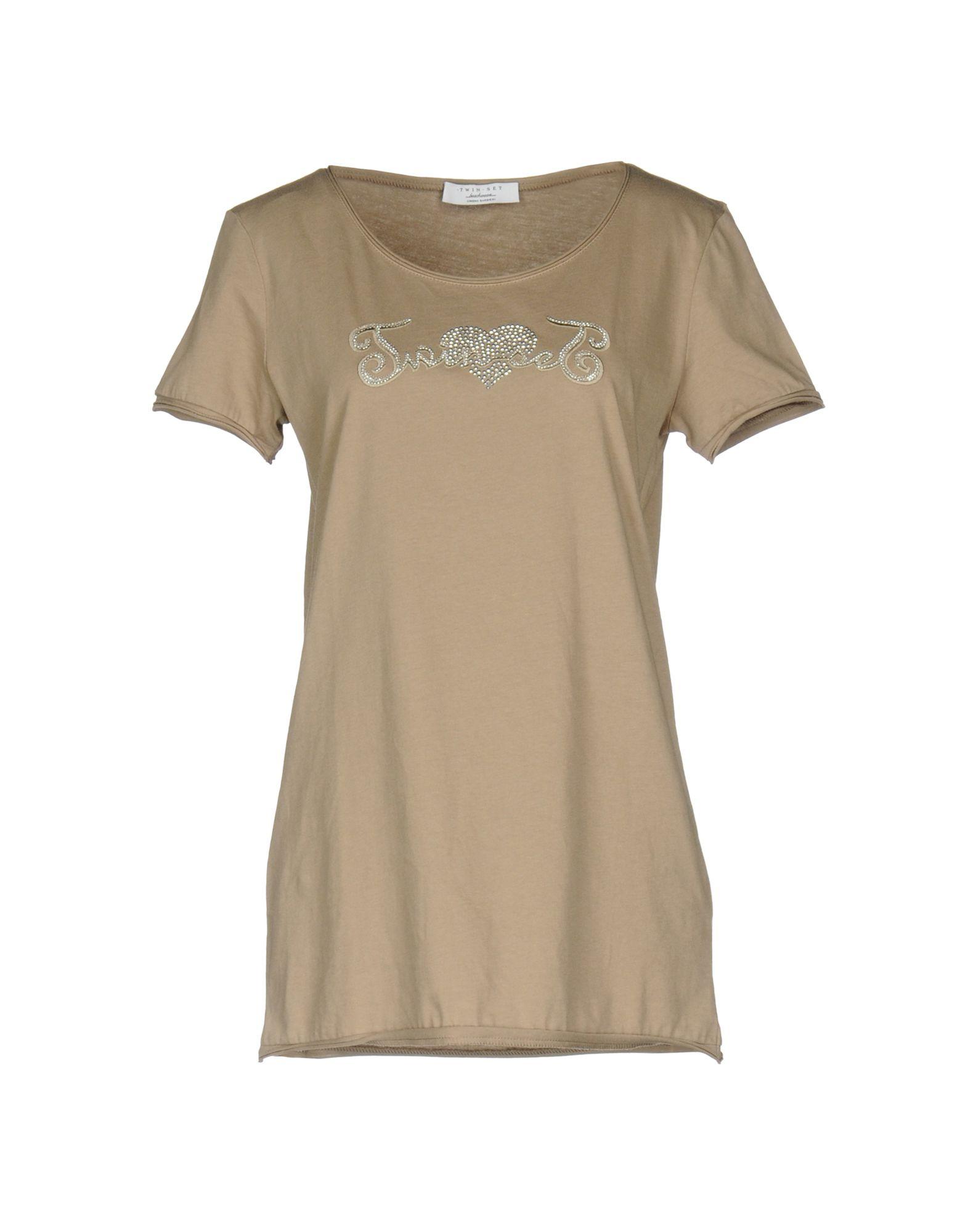 TWIN-SET Simona Barbieri Damen T-shirts Farbe Khaki Größe 4 jetztbilligerkaufen