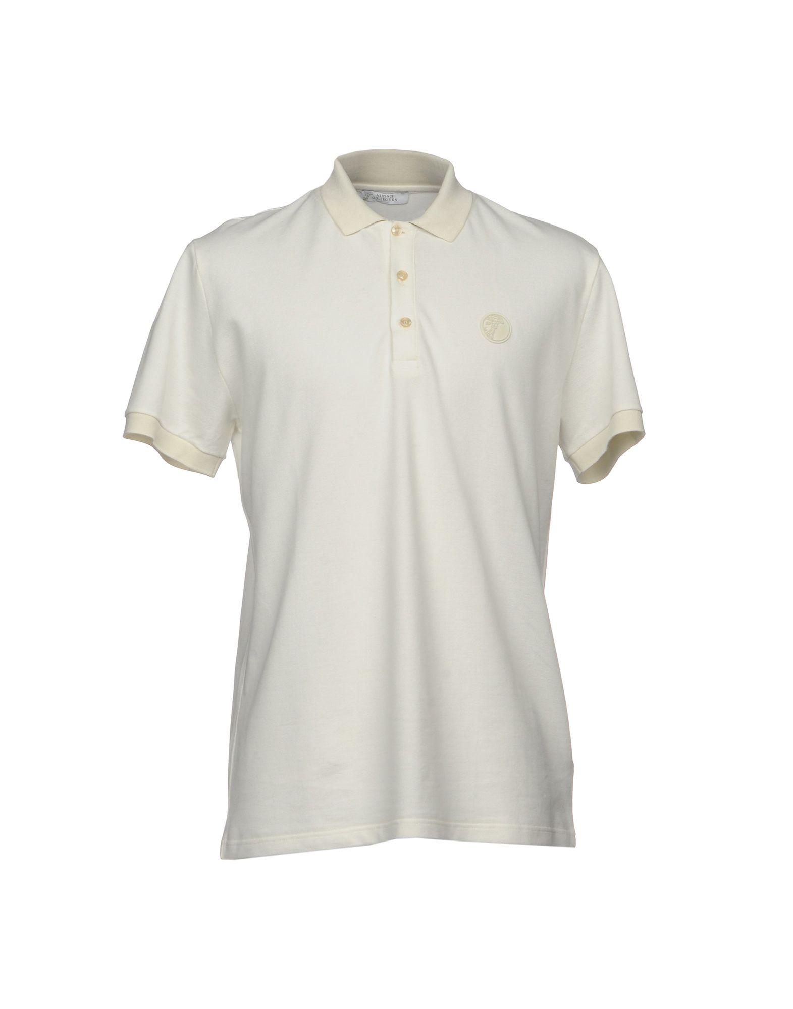 VERSACE COLLECTION Herren Poloshirt Farbe Elfenbein Größe 7 jetztbilligerkaufen