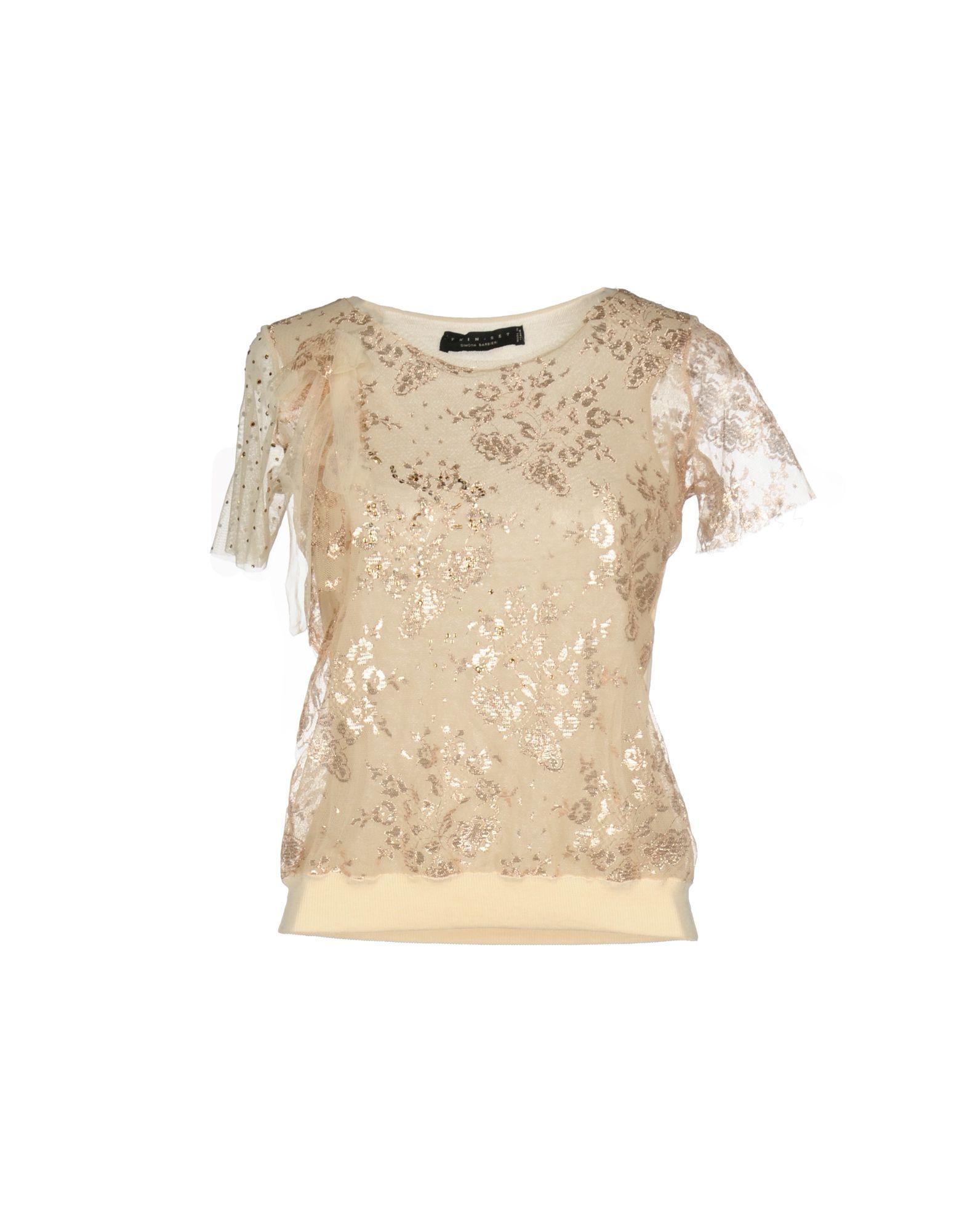 TWIN-SET Simona Barbieri Damen Pullover Farbe Gold Größe 4 jetztbilligerkaufen