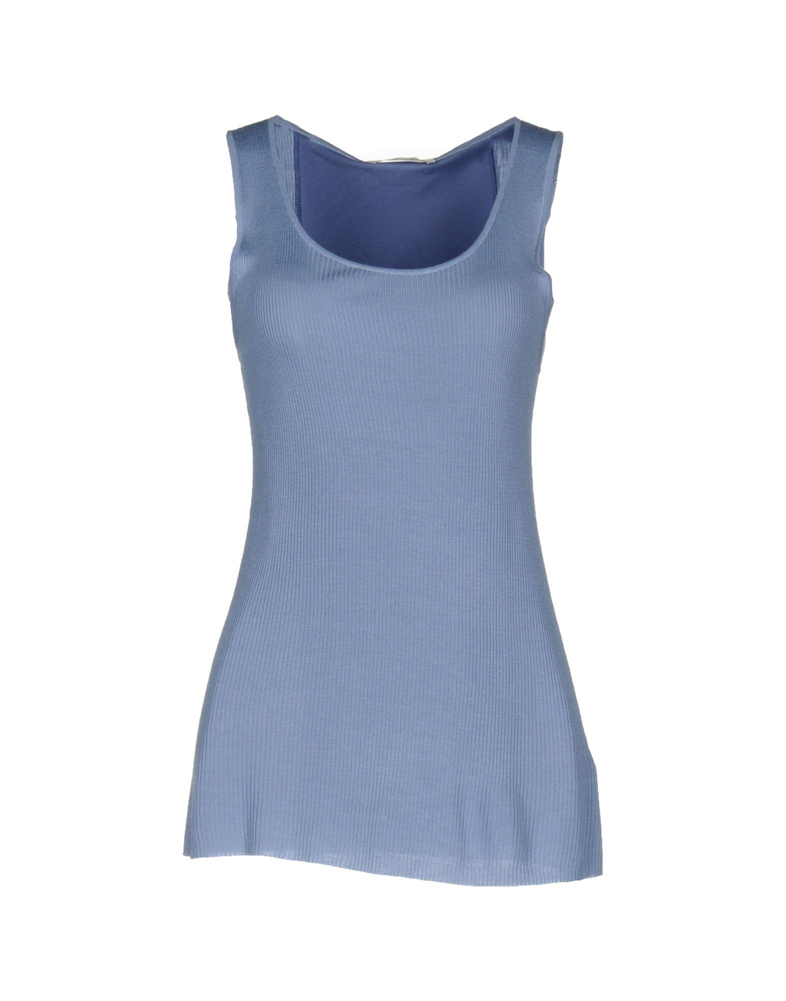 TWIN-SET LINGERIE Damen Ärmelloses Unterhemd Farbe Blaugrau Größe 4 jetztbilligerkaufen