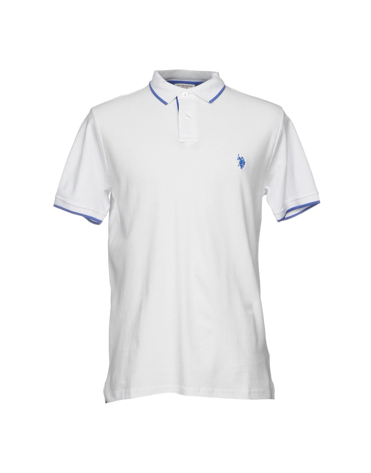 《送料無料》U.S.POLO ASSN. メンズ ポロシャツ ホワイト S コットン 100%