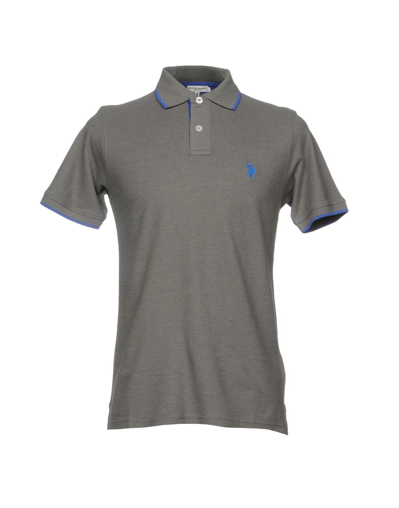 《送料無料》U.S.POLO ASSN. メンズ ポロシャツ グレー S コットン 100%