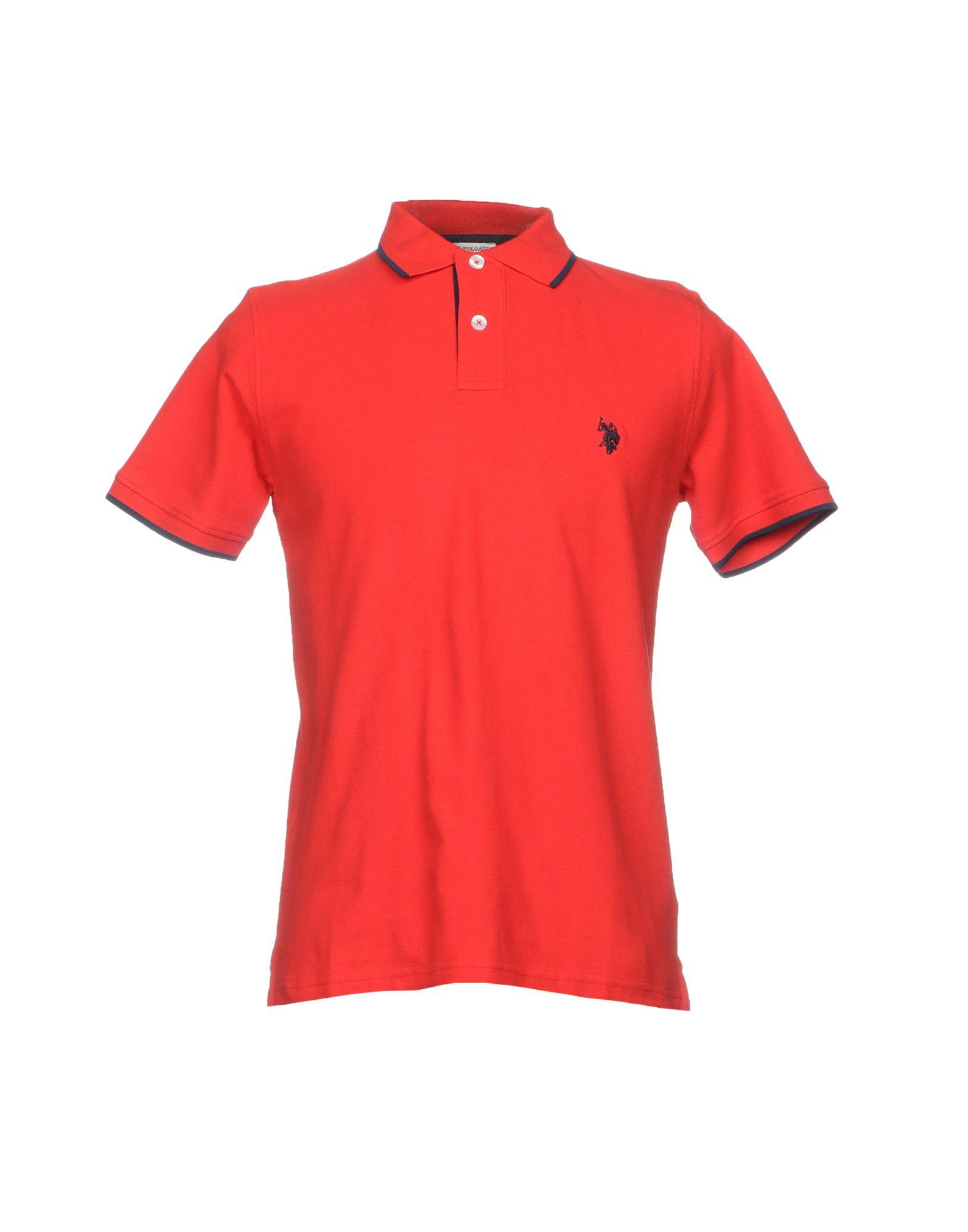《送料無料》U.S.POLO ASSN. メンズ ポロシャツ レッド M コットン 100%