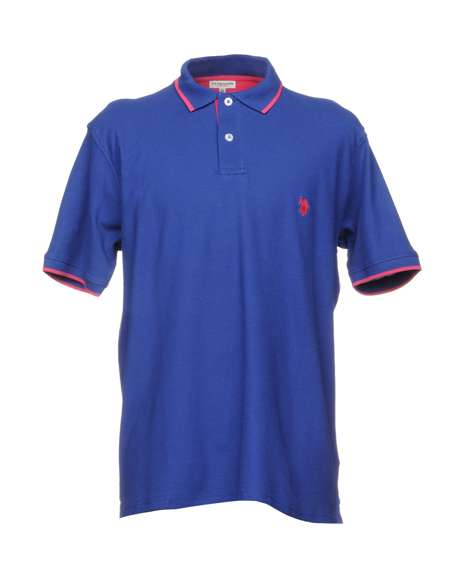 《送料無料》U.S.POLO ASSN. メンズ ポロシャツ ブルー S コットン 100%