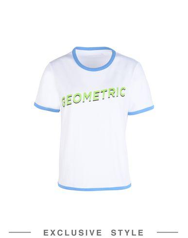 Купить Женскую футболку FLEAMADONNA x YOOX белого цвета