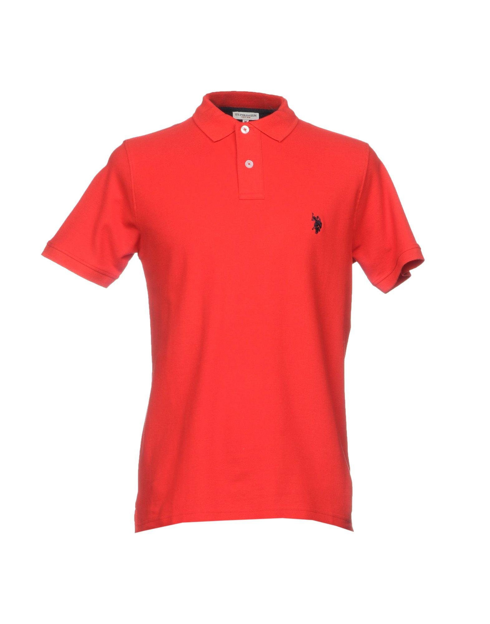 《送料無料》U.S.POLO ASSN. メンズ ポロシャツ レッド S コットン 100%