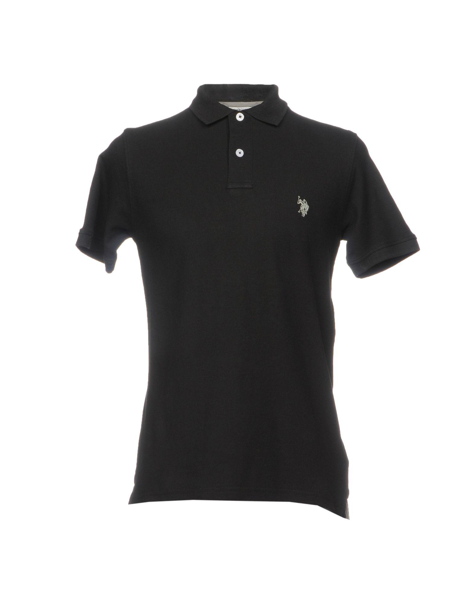 《送料無料》U.S.POLO ASSN. メンズ ポロシャツ ブラック M コットン 100%