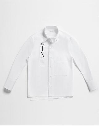 VLTN VALENTINO VLTN shirt with tie collar   Cotton 12094040KX