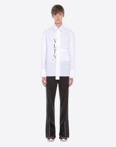 VLTN shirt with tie collar