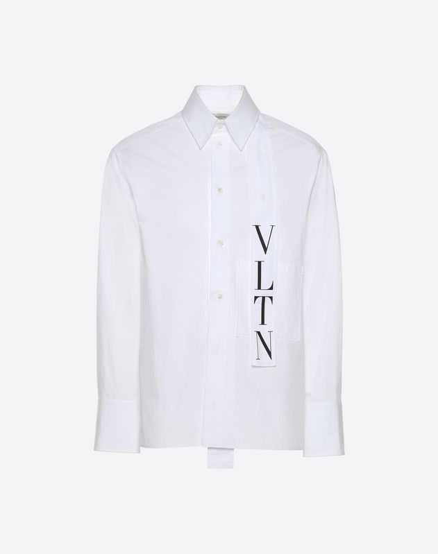 VLTN shirt with tie collar
