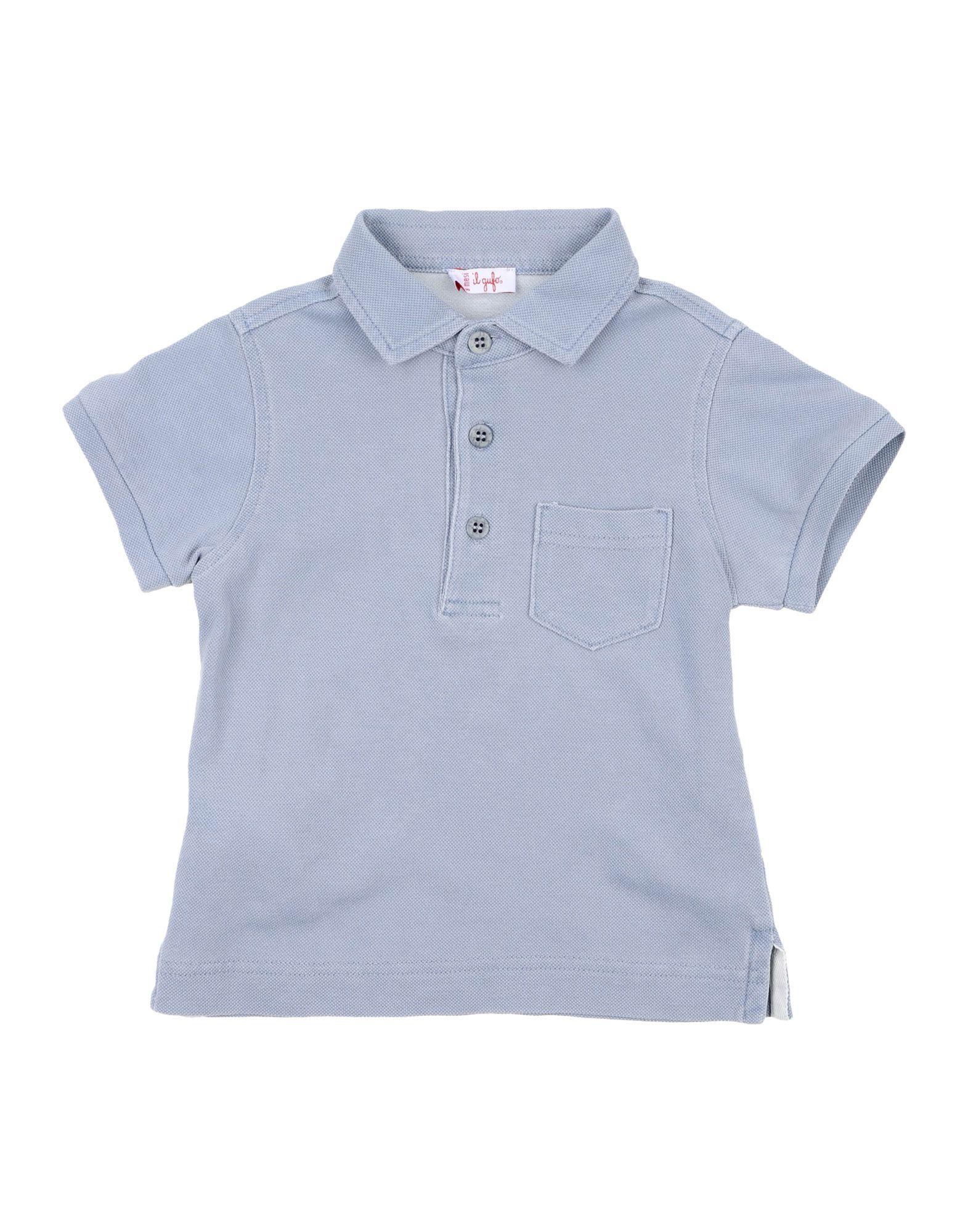 IL GUFO Поло il gufo голубая льняная футболка поло