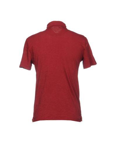 Фото 2 - Мужское поло  красно-коричневого цвета