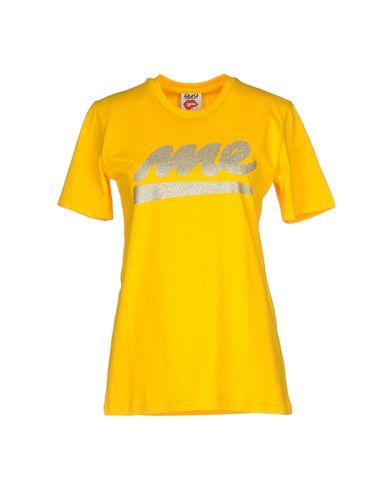 Купить Женскую футболку FOLLOW US желтого цвета