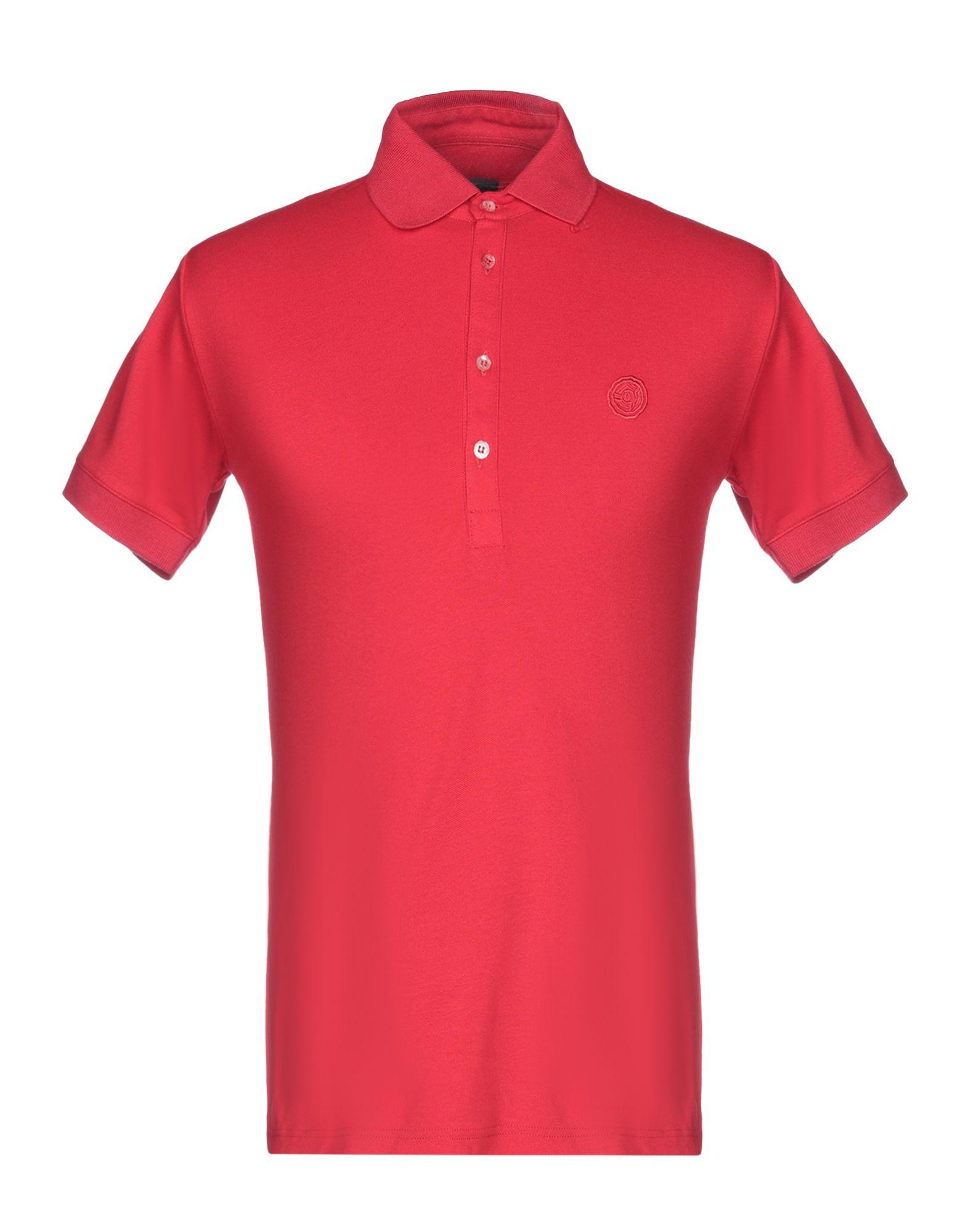 《送料無料》ALESSANDRO DELL'ACQUA メンズ ポロシャツ レッド S コットン 100%