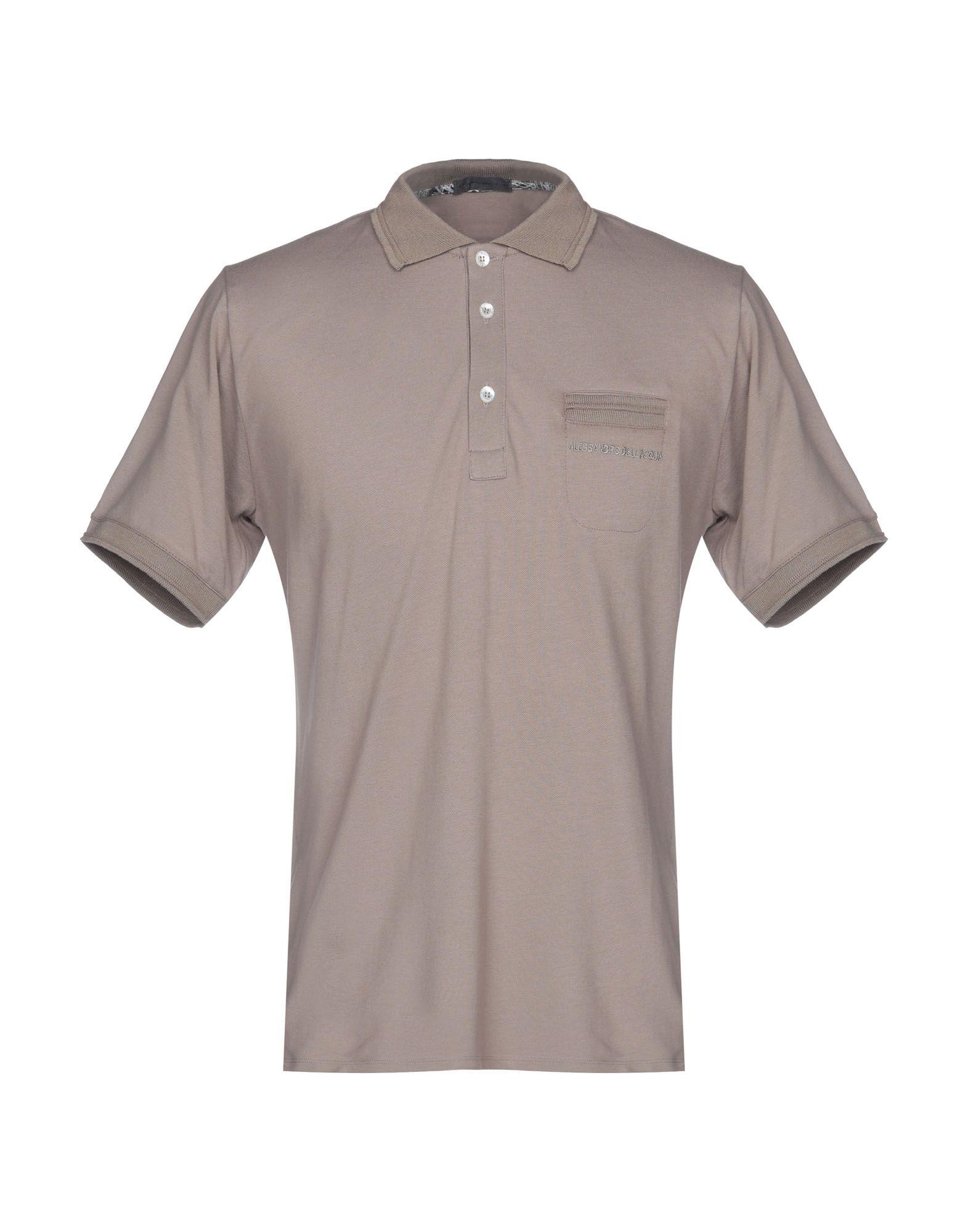 《セール開催中》ALESSANDRO DELL'ACQUA メンズ ポロシャツ ドーブグレー L コットン 100%