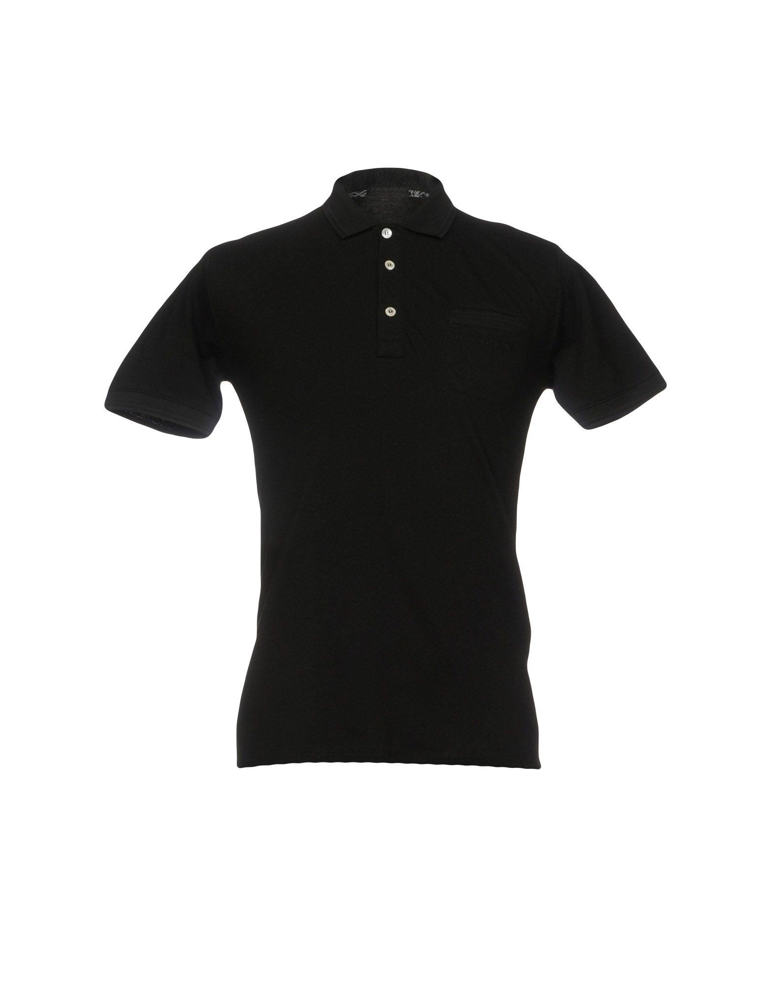 《セール開催中》ALESSANDRO DELL'ACQUA メンズ ポロシャツ ブラック S コットン 100%