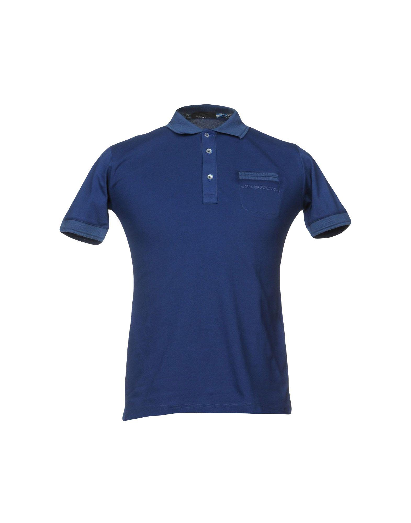 《セール開催中》ALESSANDRO DELL'ACQUA メンズ ポロシャツ ブルー S コットン 100%