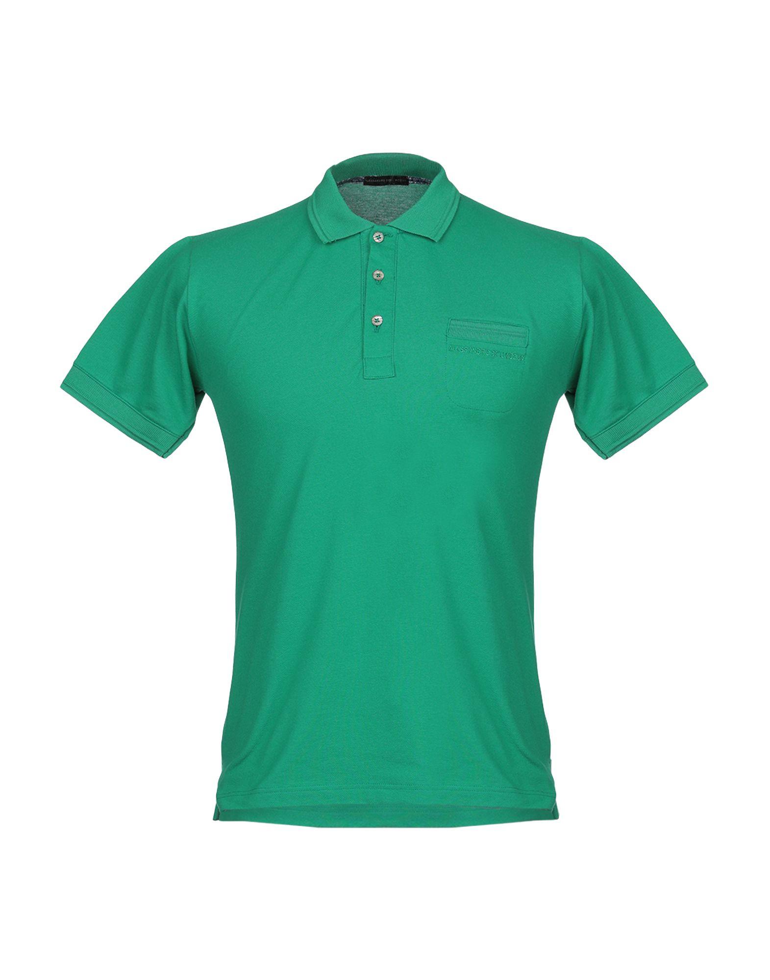 《セール開催中》ALESSANDRO DELL'ACQUA メンズ ポロシャツ グリーン M コットン 100%