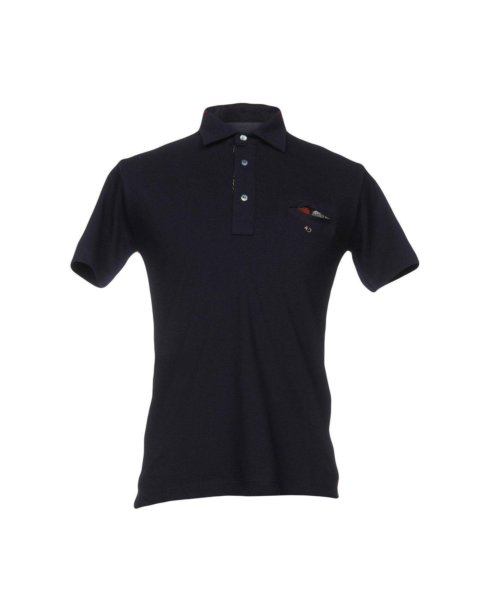 《送料無料》ALESSANDRO DELL'ACQUA メンズ ポロシャツ ブルー M コットン 100%