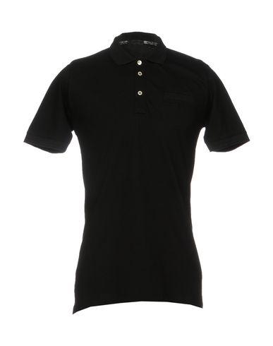 ALESSANDRO DELL'ACQUA メンズ ポロシャツ ブラック L コットン 100%