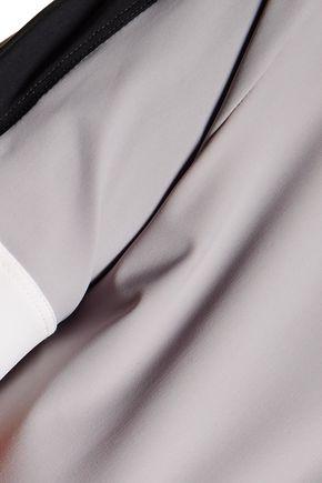 NO KA 'OI Naka metallic striped stretch turtleneck top