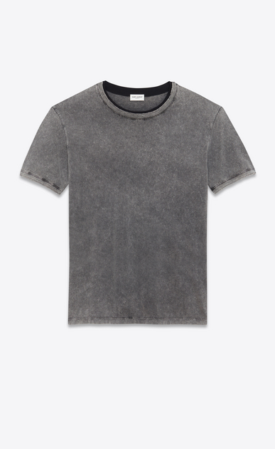 SAINT LAURENT T-Shirt and Jersey D Boyfriend T-shirt in gray and faded black destroy jersey a_V4